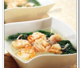 翡翠虾仁粉丝汤的做法