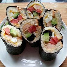 悦儿厨房~自创土司寿司卷,简单易做,零失败