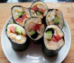 悦儿厨房~自创土司寿司卷,简单易做,零失败的做法