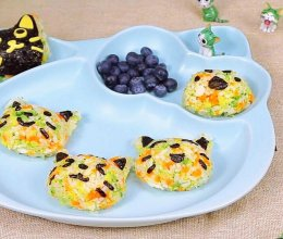 杂蔬鳕鱼猫饭团的做法