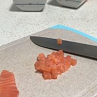 三文鱼香芒青芥蛋挞的做法图解3