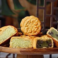 斑斓椰蓉和抹茶红豆馅月饼的做法图解27