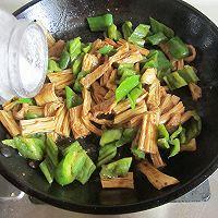 青椒腐竹炒肉片的做法图解9