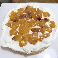 小清新 | 新鲜黄桃水果戚风蛋糕的做法图解12