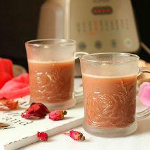 玫瑰红豆豆浆