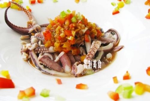 凉拌章鱼配五味汁的做法
