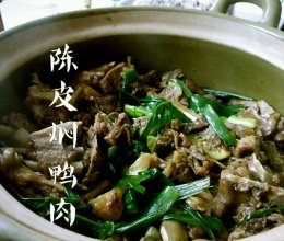 陈皮焖鸭肉的做法