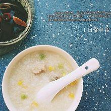 青豆玉米小米排骨粥