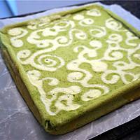 绿茶彩绘蛋糕卷#九阳烘焙剧场#的做法图解17