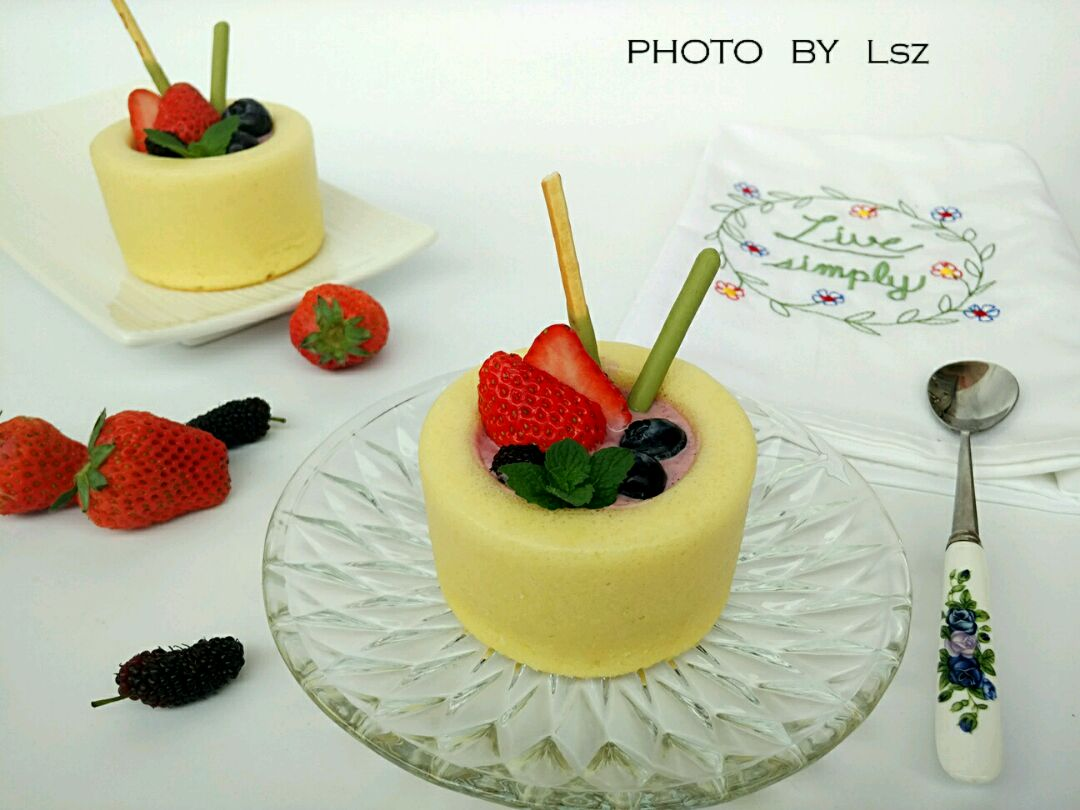 酸奶杯子蛋糕#豆果5周年图片