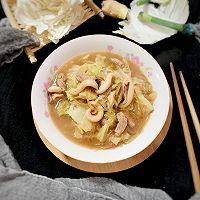 #快手又营养,我家的冬日必备菜品#板乌肉丝煨白菜的做法图解20