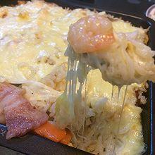 培根虾仁芝士焗饭