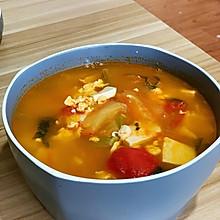 西红柿豆腐菠菜汤