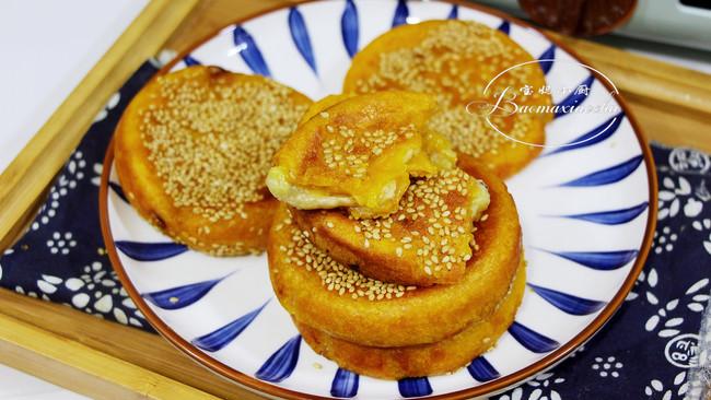 吃不烦的~南瓜香蕉馅糯米饼的做法