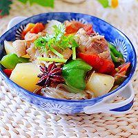 #就是红烧吃不腻!#土鸡土豆粉条一锅炖的做法图解17