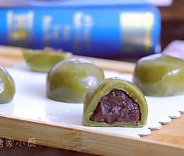 春天的味道:抹茶红豆青团的做法