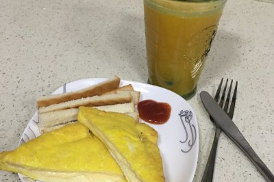 乐活快手早餐 蛋煎芝士吐司