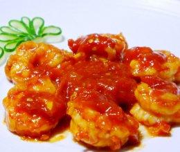 色泽红润,营养美味——茄汁虾球的做法