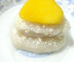 心型芒果糯米糍的做法