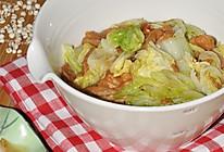 白菜叶炒油面筋的做法