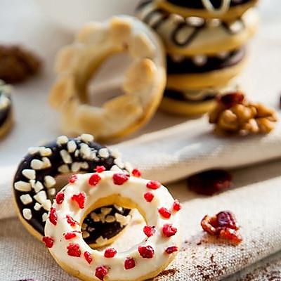 甜甜圈饼干,迷你版的甜甜圈