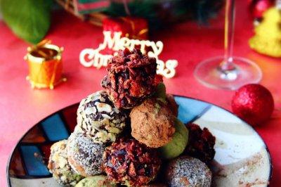 ·什锦松露巧克力圣诞塔·过一个甜蜜的圣诞节