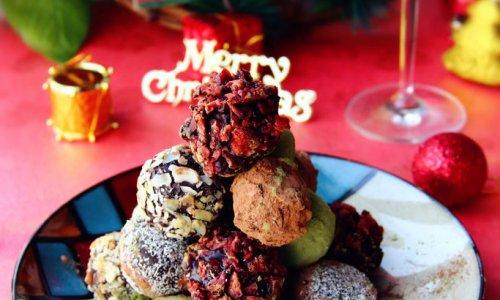 ·什锦松露巧克力圣诞塔·过一个甜蜜的圣诞节#九阳烘焙剧场#的做法