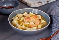鲜虾韭黄炖豆腐的做法