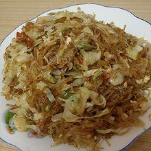 包菜炒米线