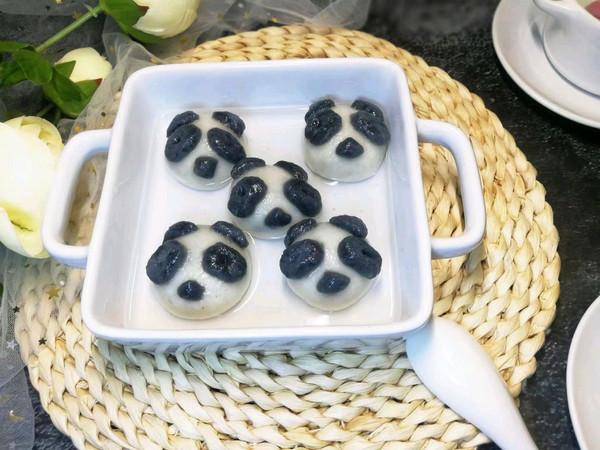 卡通熊猫汤圆(内附两种馅料做法)的做法