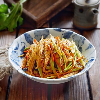 风味腐竹烩芹菜