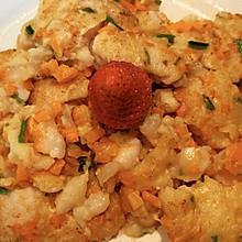 巴沙鱼胡萝卜菠菜蛋饼
