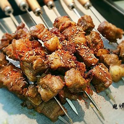 电烤羊排肉串
