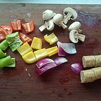 五彩串烧法兰肠——久美惠法兰克福香肠试用的做法图解1