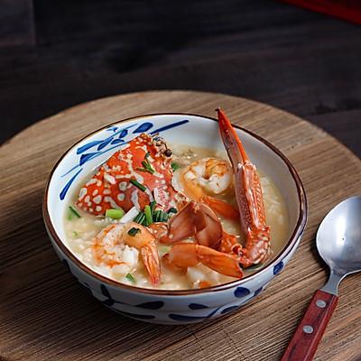 螃蟹大虾海鲜粥