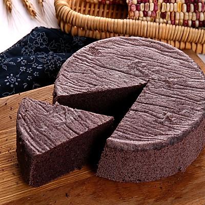 不用烤箱也能做的戚风黑米糕