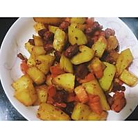 香肠胡萝卜土豆焖饭的做法图解6