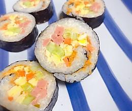 卷一卷切一切的简单寿司,紫菜包饭的做法