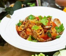 #节后清肠大作战#番茄蛤蜊意面的做法