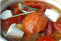 梭子蟹番茄豆腐煲  的做法