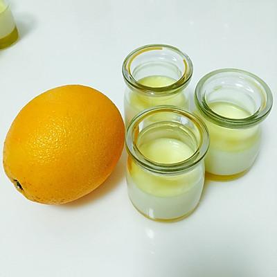 橙子果冻布丁