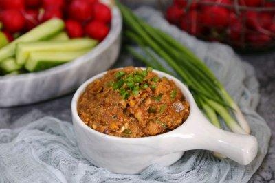 蘸酱菜(鸡蛋炒酱的做法)