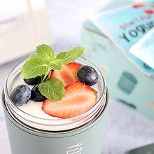 #美食视频挑战赛# 自制水果酸奶