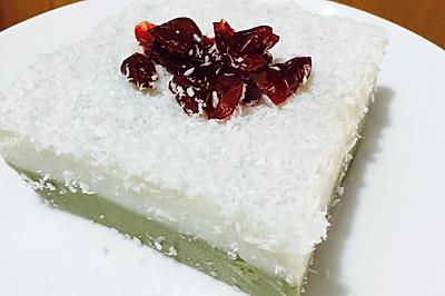 椰浆抹茶双色豆腐