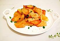 快速简单的椒盐土豆块#鲜香滋味,搞定萌娃#的做法
