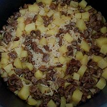土豆牛肉(猪肉)焖饭