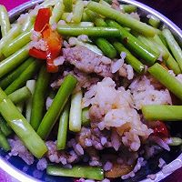 蒜苔肉丝炒饭的做法图解6