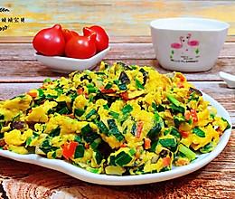 #把金牌大厨带回家#韭菜香菇胡萝卜炒鸡蛋的做法
