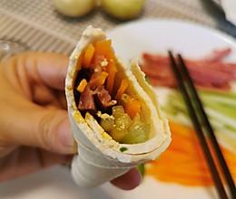 减脂餐~豆皮卷的做法