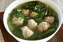 小白菜丸子汤的做法